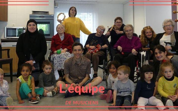 Atelier rythmique avec les petits Loupiots